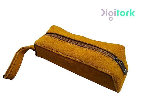 کیف لوازم آرایشی چرم طبیعی