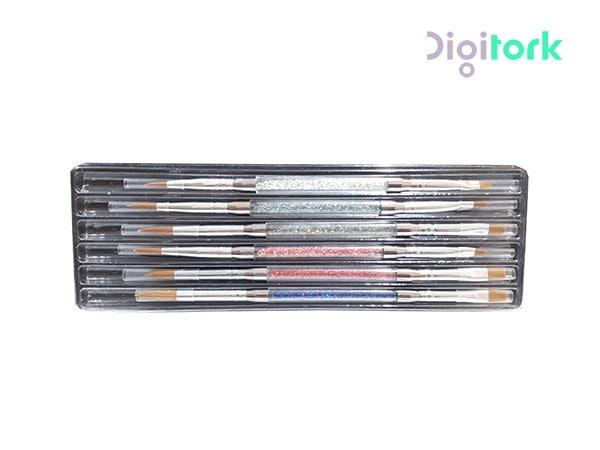 ست کامل قلم کاشت ناخن ۶ عددی- ۱۲ کاره-