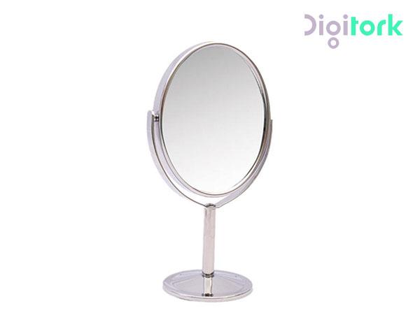 آینه آرایشی استیل بیضی دو طرفه