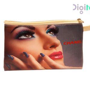 کیف لوازم آرایشی زنانه طرح چنل