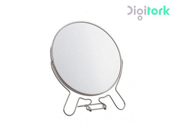 آینه آرایشی استیل گرد ۸ اینچ بزرگنمایی ۳ برابر