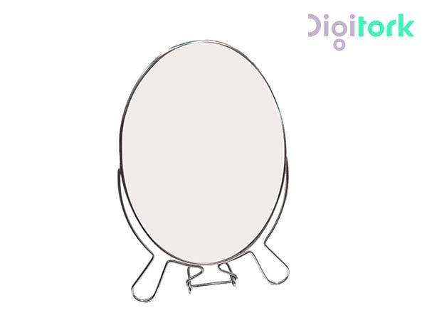 آینه آرایشی استیل بیضی مدل ۶ اینچ بزرگنمایی ۳ برابر